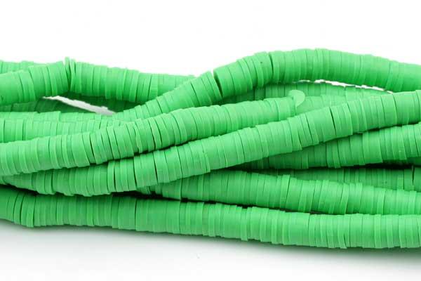 Fimo perlestreng 6x1 mm  Grøn
