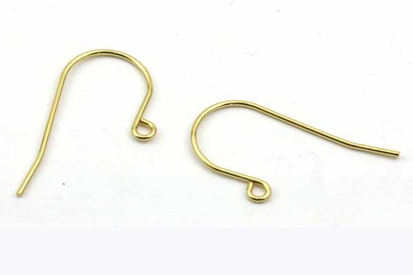 Rustfri stål Ørekrog Guld 5 par