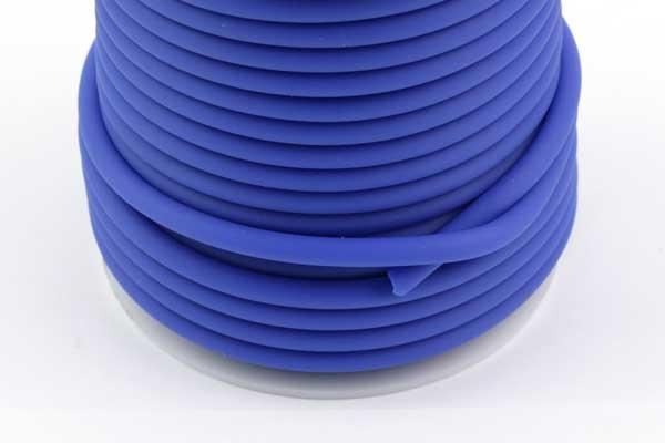 Gummisnøre Blå 4 mm hul