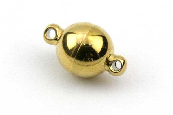 Magnetlås rustfri stål guld farve 8x12 mm