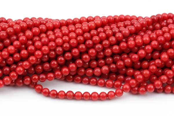Rød koral 4 mm