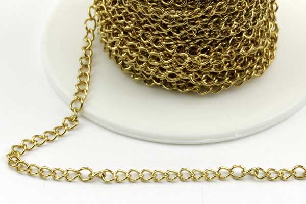 Rustfri stål kæde guld 4 x 3 mm