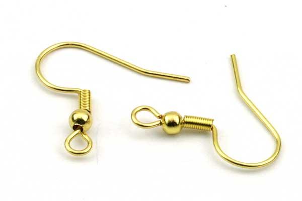 Fransk ørekroge guld rustfri stål 5 par