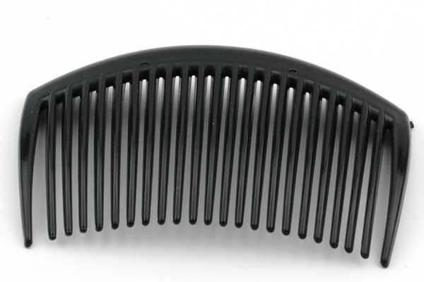 Hårkam sort plast