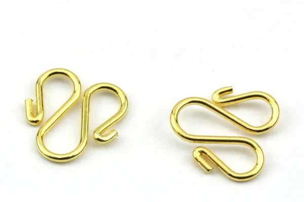 Dobbel s lås guld rustfri stål 5 stk