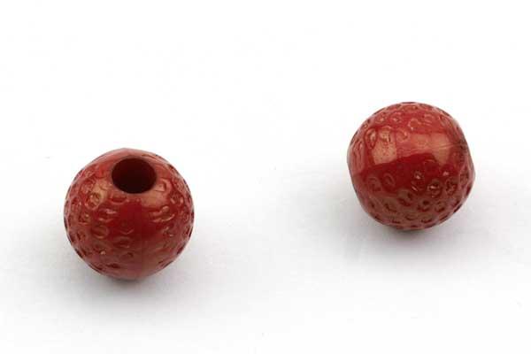 Golf bolde acryl perler 20 stk røde