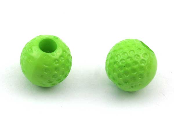 Golf bolde acryl perler 20 stk grønne
