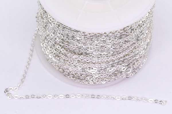 Rustfri stål kæde Sølvfarve 2x1,5 mm