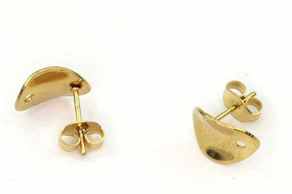 Øreringe Guld rustfri stål Buede med hul 5 par