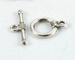 Smykkelås Silver color 10 sæt.