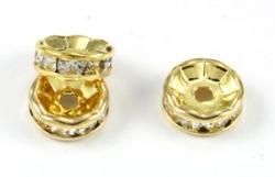 Goldcolor rhinsten rondel Klar10 mm