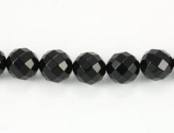 Sort Onyx faceteret 8 mm