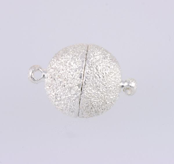 Magnet lås sølv farve 14 mm