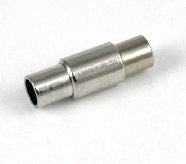 Magnet bajonet lås Rhodium belagt 4 mm