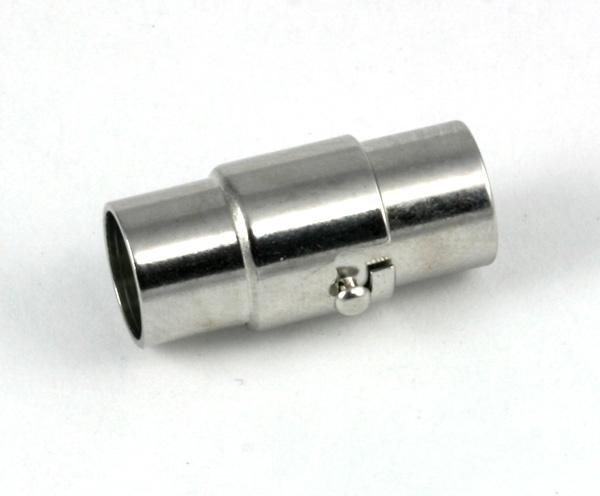 Magnet bajonet lås Rhodium belagt 5 mm