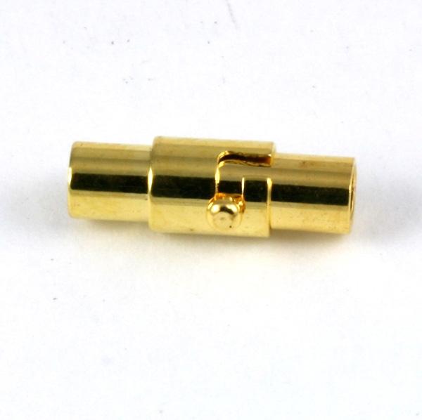 Magnet bajonet lås guld farve 4 mm