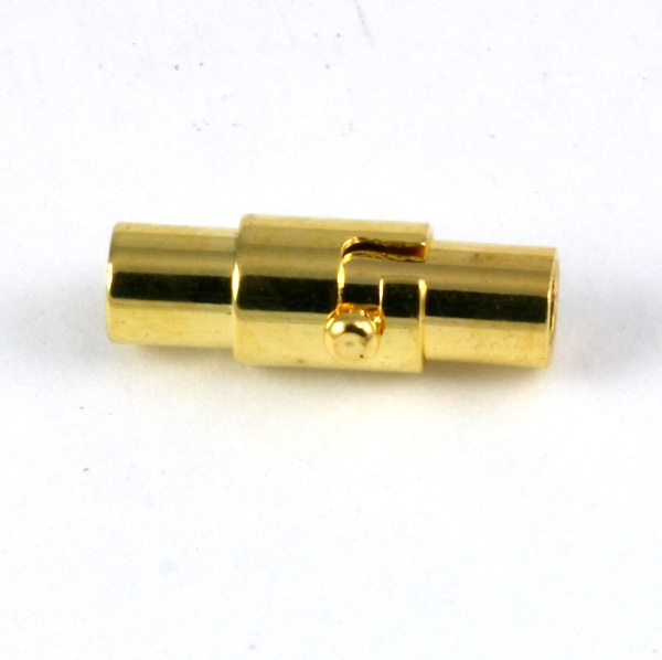 Magnet bajonet lås guld farve 3 mm