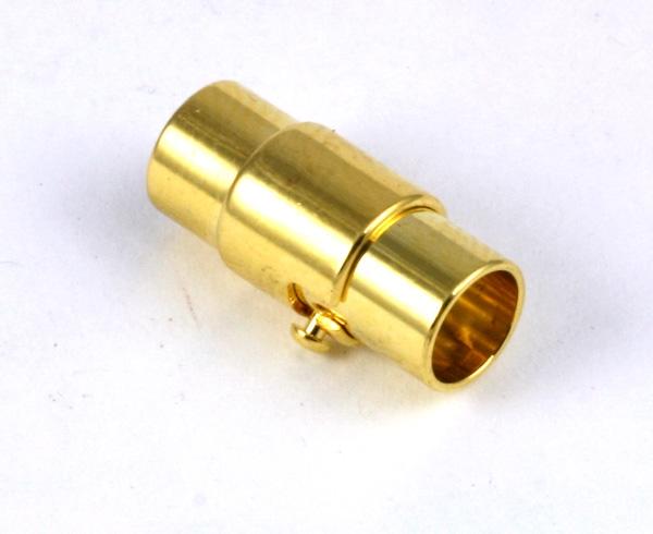 Magnet bajonet lås guld farve 6 mm