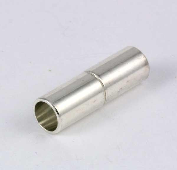 Magnet lås Sølv farve 4 mm hul