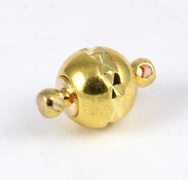 Magnet lås guld farvet med mønster