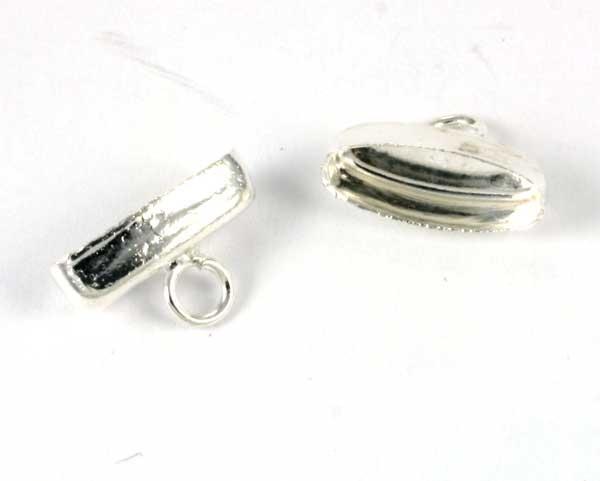 Enderør oval sølv farve 10 stk