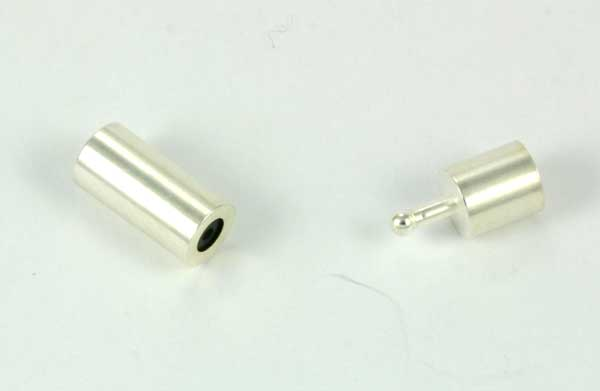 Smykkelås til snørre 5,3 mm Sølv