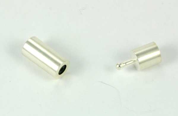 Smykkelås til snørre 2 mm sølv