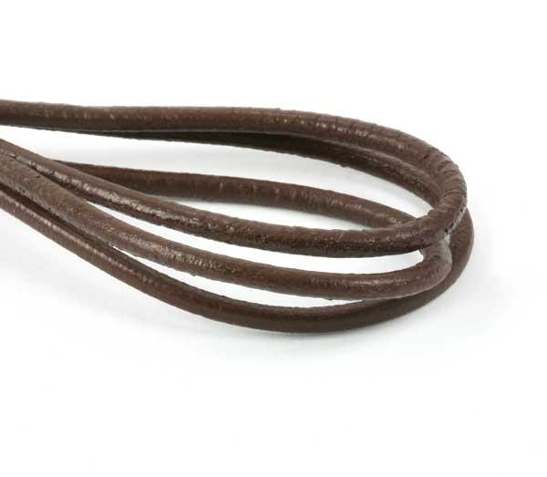 Lædersnøre chokolade brun 2,5 mm
