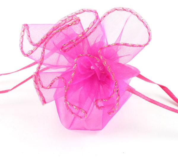 Organza pose rund Pink