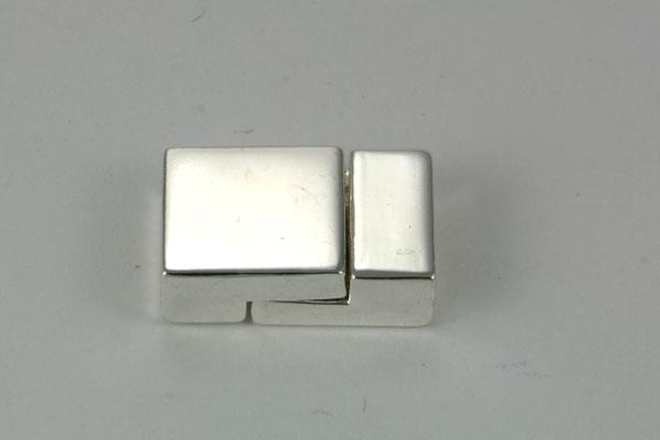 Magnet lås firkant sølv farve