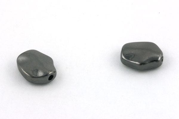Tibetanske sølv perler Gunmetal 10 stk