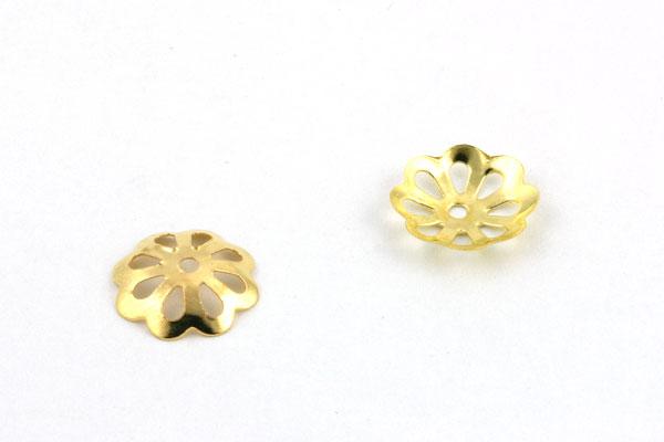 Perlehatte guld farve 10,5 mm - 20 stk