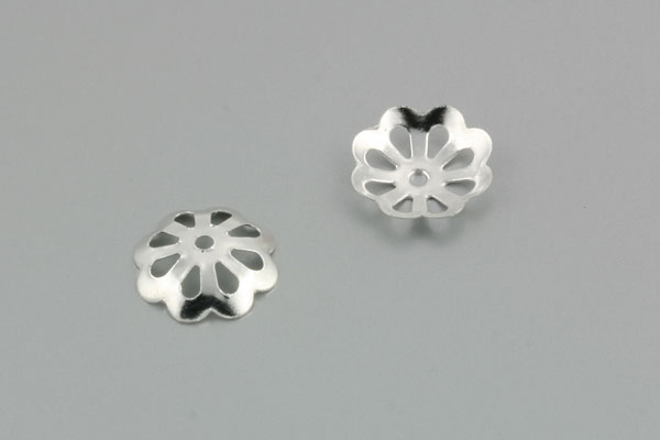 Perlehatte sølv farve 10,5 mm - 20 stk