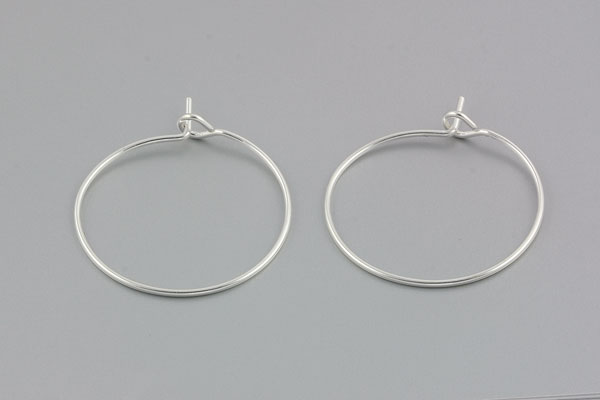Creoler ørering sølv belagt 10 par 20 mm
