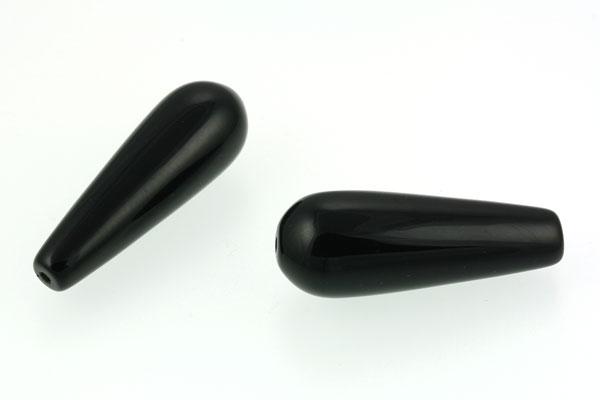 Sort Onyx dråber 10 x 30 mm