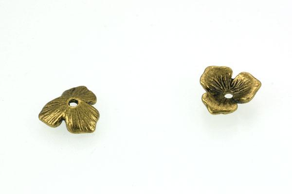 Perlehatte antik guld farve 20 stk