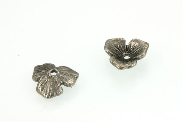 Perlehatte antik sølv farve 20 stk