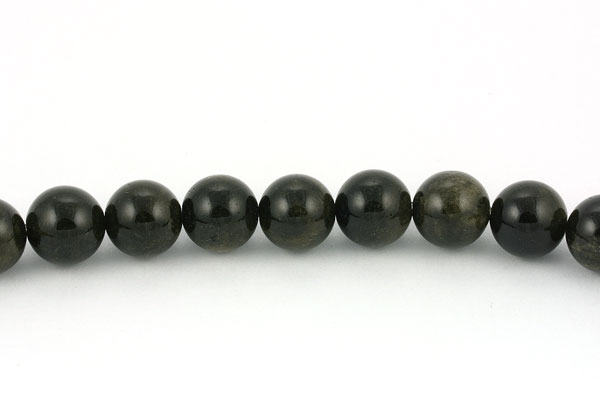 Regnbue obsidian 12 mm rund