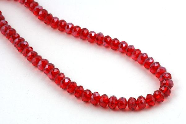 Glasperler 8x6 mm rød