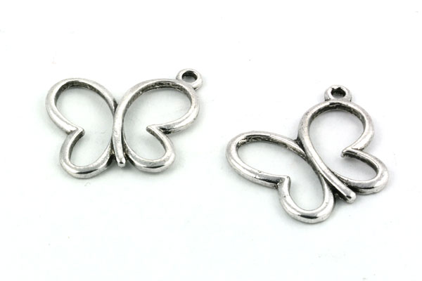 Vedhæng sommerfugl sølvfarve
