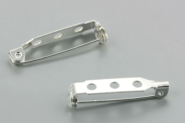 Broche nål sølv farve27 x 5 mm
