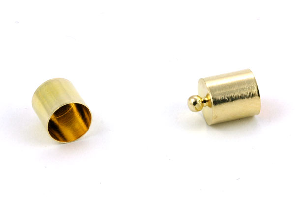 Enderør 9 x 13 mm guldfarve 10 stk