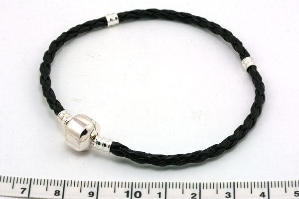 Armbånd til store perler skind
