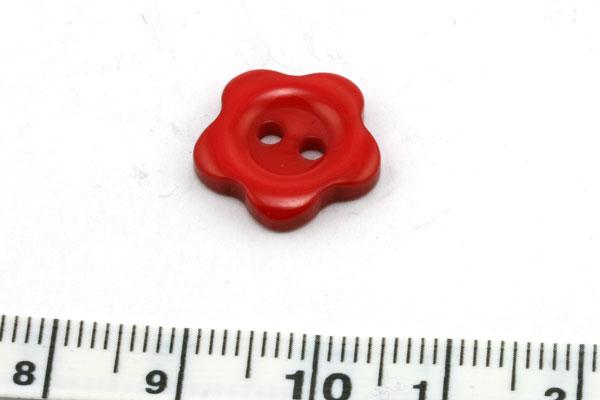 Knap blomst 14 mm rød