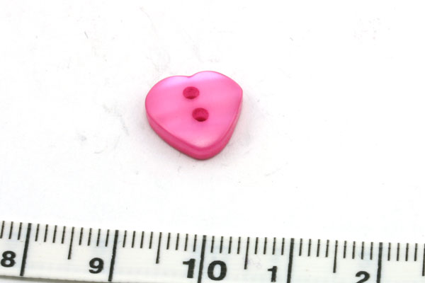 Knap 14x11 mm fuschia