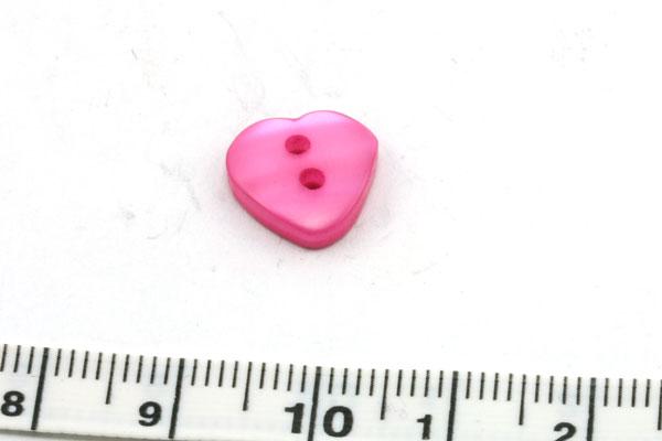 Knap 14x11 mm fuschia