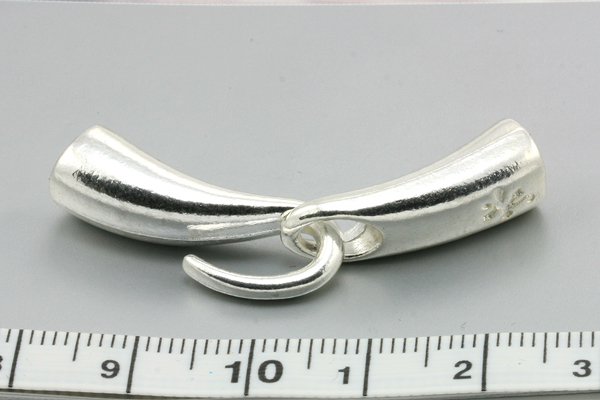 Smykkelås med krog sølv farve 4,2 mm hul