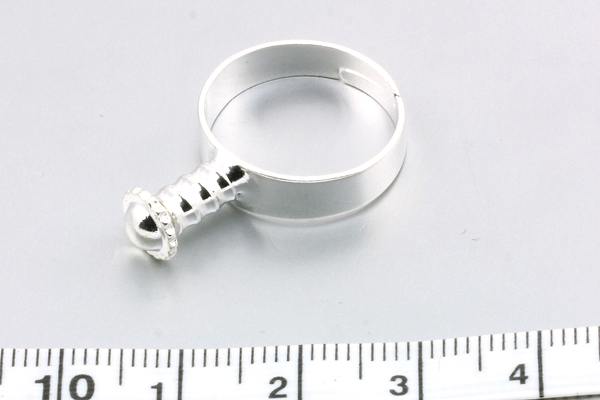 Fingerring 17-18 mm justerbar