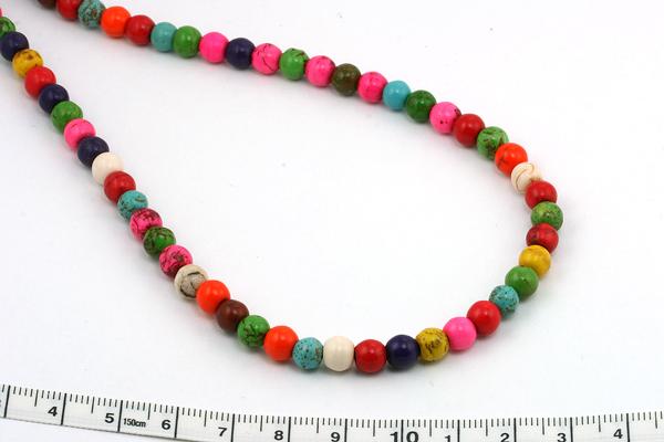 Magnesit multifarvet rund 6 mm