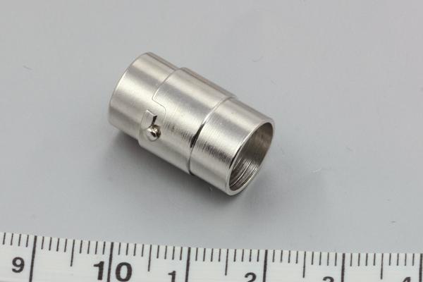 Magnet bajonetlås platin farve 10 mm hul